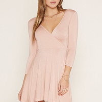 Surplice Skater Dress
