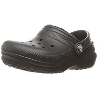 Crocs Boys Classic Lined Faux Fur Lined Perforated Clogs