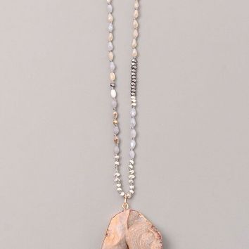 Vintage Snoot Moonstone Necklace in Natural