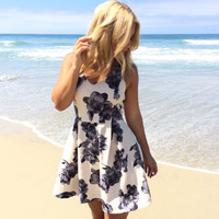 Shaded Orchid Skater Dress