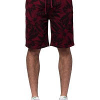 Topiary Sweatshorts - Burgundy