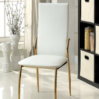 Ninabah Contemporary Side Chair, White