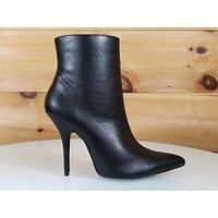 Mac J Mind Blown Black High Heels Pointy Toe Ankle Boot