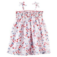 OshKosh B'gosh Smocked Flower Dress - Baby Girl, Size:
