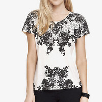 BOXY GRAPHIC TEE - LACE from EXPRESS