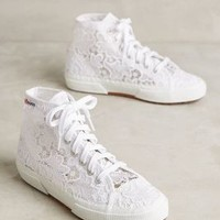 Superga Lace High-Tops in White Size:
