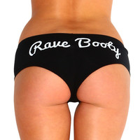 Rave Booty Shorts, Black