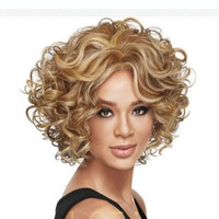 Short Hair Wig High Temperature Wire Rose Net Wig 2080 (Color: Golden) = 1747724164