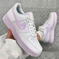 Nike Air Force 1 Girl powder Lavender air force board shoes