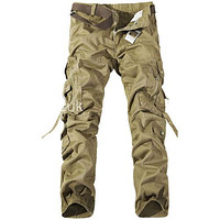 Fashion Mens Work  Military Army Cargo Camo Combat Multi-pocket Pants Trousers