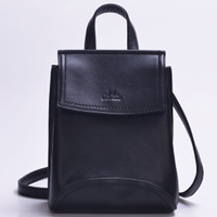 Square Shaped PU Leather Backpack