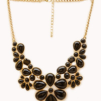 FOREVER 21 Bold Bauble Bib Necklace Gold/Black One