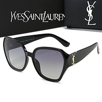 YSL Yves Saint Laurent New Hot Sale Women Summer Shades Eyeglasses Glasses Sunglasses Black