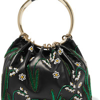 Valentino - Bead-embellished leather tote