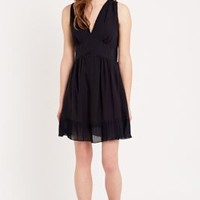 Sessun Rosa Polka Dot Dress in Navy - Urban Outfitters