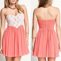Lace Wrapped Chest Lovely Dress