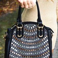 Sparkling Personality Purse: Black/Bronze