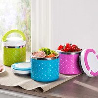 Portable Thermal Insulation Lunch Box Stainless Steel for Student Worker Christmas Gift 650mL