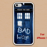 iPhone 5 Case, Tardis iphone 5 case, Police Box, bad wolf iphone case, Dr Who Tardis iphone 5 case