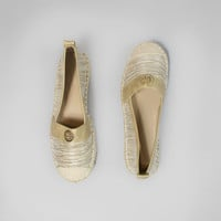 Sparkle Each Step Flats in Beige