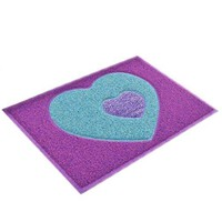 PVC Non-slip Ground Door Mat Carpet   heart random  38*58cm