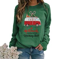 fhotwinter19 new women's Christmas letter long-sleeved sweater