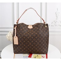 New LV Louis Vuitton M43703 Women's Leather Shoulder Bag LV Tote LV Handbag LV Shopping Bag LV Messenger Bags 42-34-12cm