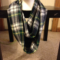 Plaid Infinity Scarf-Plaid Scarf-Women's clothing-Infinity scarf-infinite scarf