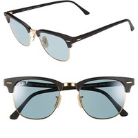 Women's Ray-Ban 'Classic Clubmaster' 51mm Polarized Sunglasses