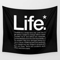 Cosmo Life Quote Tapestry