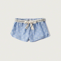 Patterned Woven Sleep Shorts