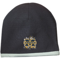 Michigan Wolverines Splatter Logo Performance Knit Cap