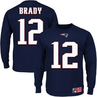 Tom Brady New England Patriots Eligible Receiver II Long Sleeve T-Shirt – Navy Blue