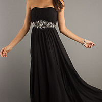 Classic Long Strapless Prom Dress