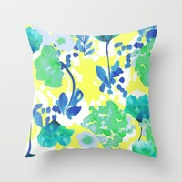 neonish; Throw Pillow by Pink Berry Patterns