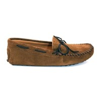 Minnetonka Driving Moc - Dusty Brown Suede Moccasin