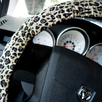 Cheetah Print Steering Wheel Cover
