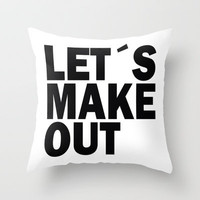 Let´s make out Throw Pillow by Nicklas Gustafsson | Society6