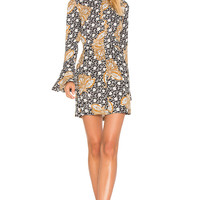 A.L.C. Trixie Dress in Black, White & Camel | REVOLVE