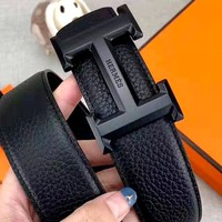 Hermes new retro personality wild smooth buckle belt