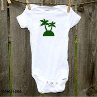 Palm Tree Onesuits®, Beach Baby Shower