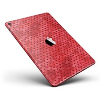 """Tiny Red Watercolor Hearts Full Body Skin for the iPad Pro (12.9"""" or 9.7"""" available)"""