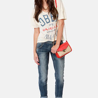 Dittos Riley Distressed Cropped Boyfriend Jeans