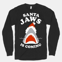 Santa Jaws Is Coming (White Ink)