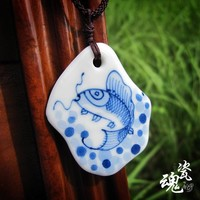Pottery Accessory Handcrafts Heavy Work Love Sea Jewelry [6586057479]