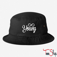 Forever Young young bucket hat