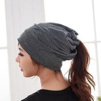 Street Trendy Casual Unisex Beanie Stacking Slouch For Women Men Hip Winter Turban Hat Piles Cap Scarf = 1958175172