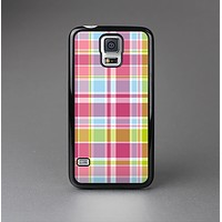 The Yellow & Pink Plaid Skin-Sert Case for the Samsung Galaxy S5
