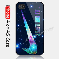 New Design Galaxy Just Do It Custom iPhone 4 or 4S Case Cover