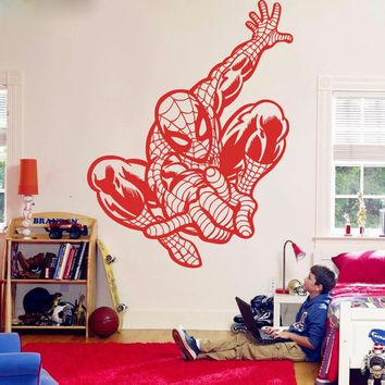 Large Spiderman Avengers Wall Sticker Living Room Boy Room Movie Superhero Wall Decal Bedroom Vinyl Home Decor Mural Art